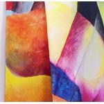 foulard ffemme multicolore en soie écharpe Allison