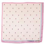 foulard carré de soie rose minis tulipes