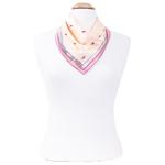foulard en soie femme carré rose minis tulipes