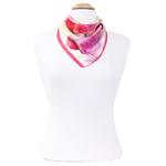 foulard en soie femme carré tulipes roses