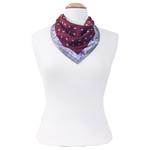 foulard en soie femme carré bordeaux loriane
