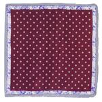 foulard carré de soie bordeaux loriane