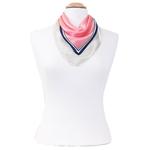 foulard en soie femme carré rose pois