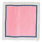 foulard carré de soie rose pois