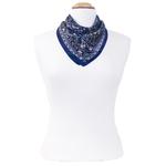 foulard en soie femme carré bleu kassie