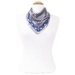 foulard en soie femme carré gris samy