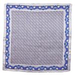 foulard carré de soie gris samy