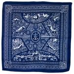 foulard en soie femme carré bleu marine hena