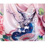 foulard femme carré de soie rose Romy