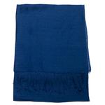 étole foulard soie viscose bleu marine