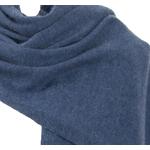 écharpe xxl bleu gris cachemire viscose andréa