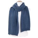 écharpe bleu gris cachemire viscose andréa