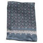foulard pour homme en soie gris paisley frise