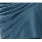 chale alpaga bleu gris