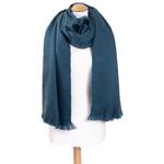 chale bleu gris laine alpaga etole femme