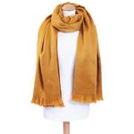 chale jaune laine alpaga etole femme