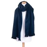 chale bleu marine laine alpaga etole femme