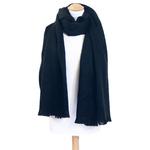 chale noir laine alpaga etole femme