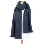 chale gris laine alpaga etole femme