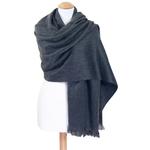 chale en laine alpaga gris etole femme