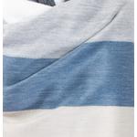 etole chale laine alpaga rayures bleu