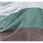 etole chale laine alpaga rayures marron