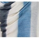 etole chale laine alpaga rayures bleu gris