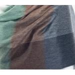 etole chale laine alpage femme carreaux  chocolat vert