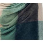 etole chale laine alpage femme carreaux  vert beige
