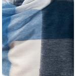 etole chale laine alpage femme carreaux bleu