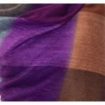 etole chale laine alpage femme carreaux violet