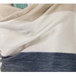 etole chale laine alpaga rayures beige