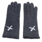 gants laine noeud ruban GRIS GL30 1
