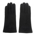 gants laine brodés noir GL28 1