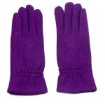 gants laine froncés violine GL013 1