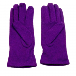 gants laine froncés violine GL013 2