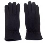 gants laine froncés noir GL010 1