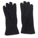 gants laine froncés noir GL010 2