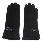 gants laine noeud ruban NOIR GL33 1