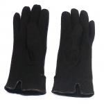 gants laine revers boutons chocolat GL20 2