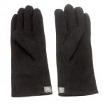 gants laine galon cuir fleur CHOCOLAT  GL35 2