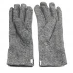 gants laine galon cuir fleur gris GL39 2