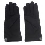 gants laine galon cuir fleur noir GL37 2