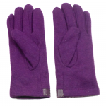 gants laine galon cuir fleur violine GL38 2