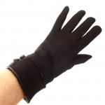 gants laine revers boutons chocolat GL20 3