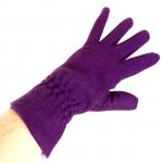 gants laine froncés violine GL013 3