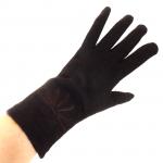 gants laine brodés chocolat GL25 3