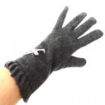 gants laine noeud ruban GRIS GL30 3