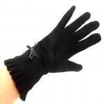 gants laine noeud ruban NOIR GL33 3