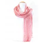 foulard écharpe maille résille lurex ROSE EF47 1